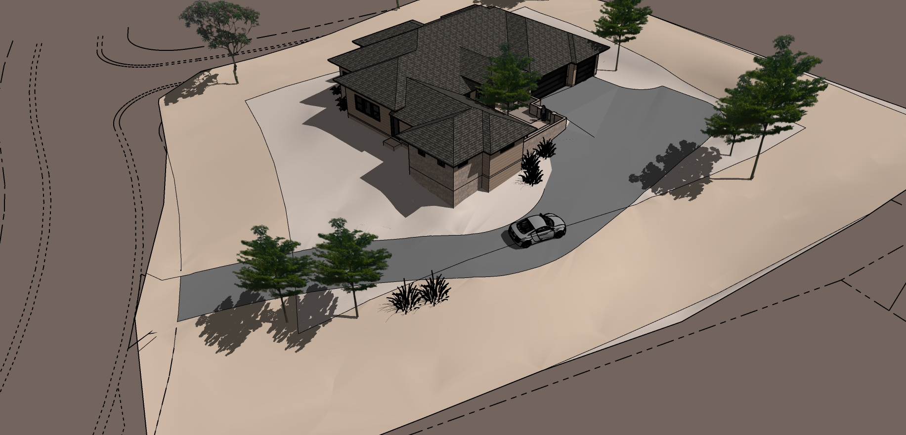 Aerial NW[23554] with optional courtyard
